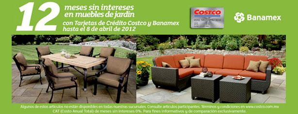 12 meses sin intereses en muebles de jard n en costco for Ofertas muebles jardin