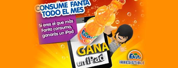 Consume Fanta todo el mes y gana un iPad