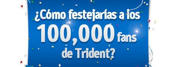 Festeja los 100,000 fans de Trident y gana
