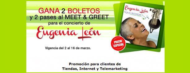Gana pases para Meet & Greet de Eugenia León con Mixup