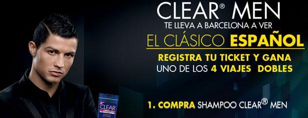 Clear Men te lleva al clásico español Barcelona vs Real Madrid