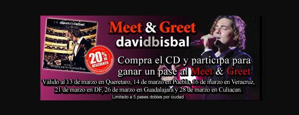 Gana pases para el Meet & Greet de David Bisbal con Mixup