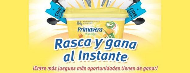 Rasca y gana al instante con margarina Primavera