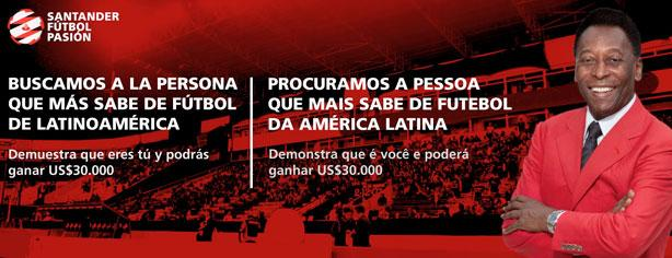 Santander busca a quien más sabe de fútbol, gana 30,000 dólares y más
