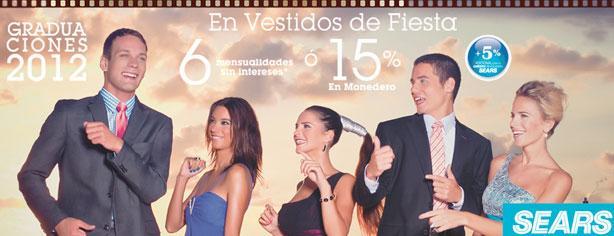 Graduaciones 2012 en Sears, 15% en monedero en Vestidos de Fiesta