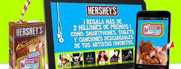 Concurso Hershey's T-Conecta, gana smartphones y tablets