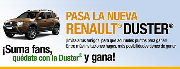 Pasa la nueva Renault Duster y gana magníficos premios