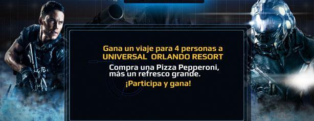 Gana viaje para 4 a Universal Orlando Resort con Cinépolis y Battleship