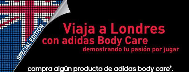 Concurso Adidas Body Care: gana viaje a Londres