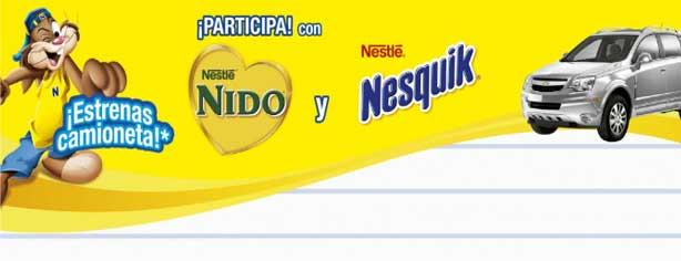 Concurso Con Nesquik y Nido estrenas camioneta, gana una Captiva Sport