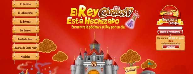 Concurso Carlos V Rey por un día: registra tus códigos y gana recompensas