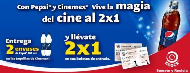 Pepsi te regala entradas al 2×1 en Cinemex