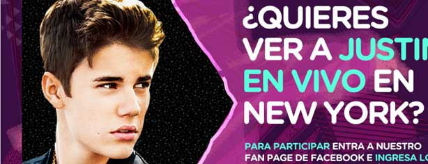 Concurso Boomerang, gana un viaje a Nueva York para el concierto de Justin Bieber