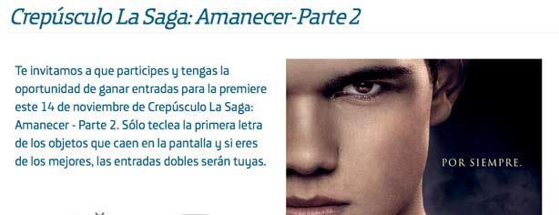 """Club Movistar te invita a la premier de """"Amanecer 2"""" de la saga Crepúsculo"""