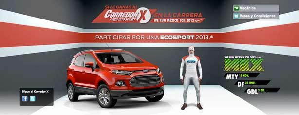 Ford y carrera Nike We Run México  gana una EcoSport 2013 venciendo al  Corredor X 87b63ec0caeb2