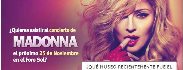 Concurso Universal Music, gana entradas para el concierto de Madonna