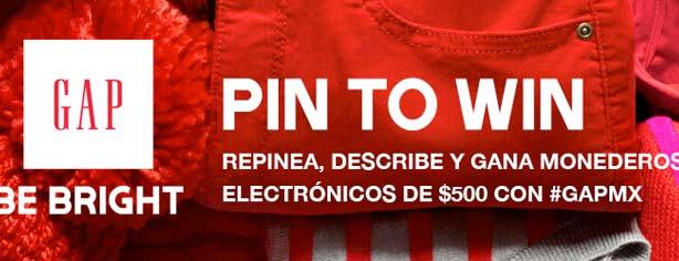 Concurso GAP México Pin to Win: gana $500 en monedero electrónico