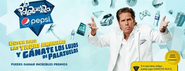 Promoción La Palazueliza Pepsi Tapa Amarilla, regístra tu código y gana los lujos de Palazuelos