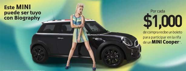 Gana un auto Mini Cooper 2013 con Biography y Liverpool