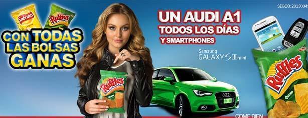 """Promoción Sabritas y Ruffles """"Con todas las bolsas ganas"""", gana Audi A1 y Galaxy SIII"""