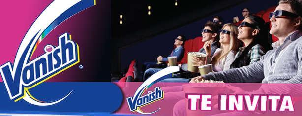 Promoción Vanish te invita al cine, obtén pases 2X1