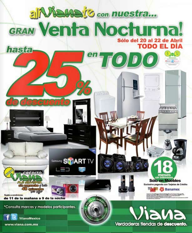 Muebles Viana : Venta nocturna viana hasta en toda la tienda