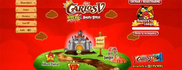 Promoción Carlos V Angry Birds: registra tu código en www.carlosv.com.mx y gana