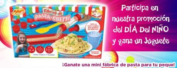 Promoción del día del niño de La Moderna Kids, gana mini fábrica de pasta