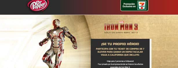Promoción Iron Man 3, Dr. Pepper y 7 Eleven: gana viaje a California