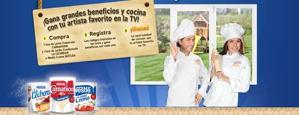 Promoción Cocinando con las Estrellas Carnation y La Lechera: registra tu código y cocina en TV