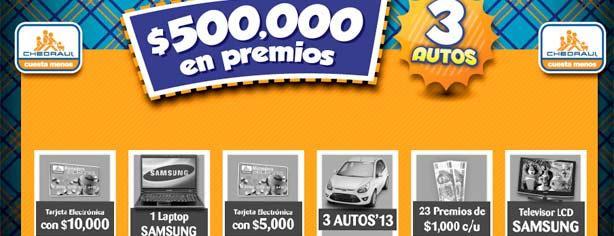Promoción Promoticket Chedraui: gana uno de los 3 autos 2013 y muchos premios más