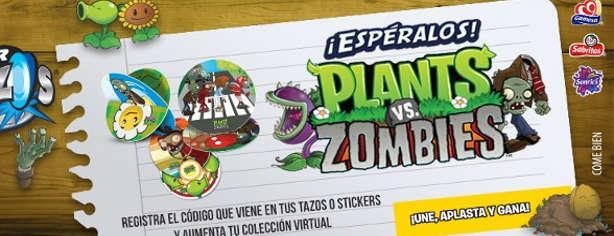 Promoción Sabritas, Gamesa y Sonrics tazos Plantas VS Zombies, regístra tu código www.tazos.com