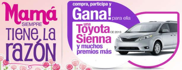 Promoción Mamá Siempre tiene la Razón de Famsa, gana una camioneta Toyota Sienna 2013
