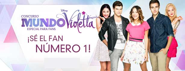 Concurso Mundo Violetta Disney Channel, carga tus códigos y gana en www.disneylatino.com