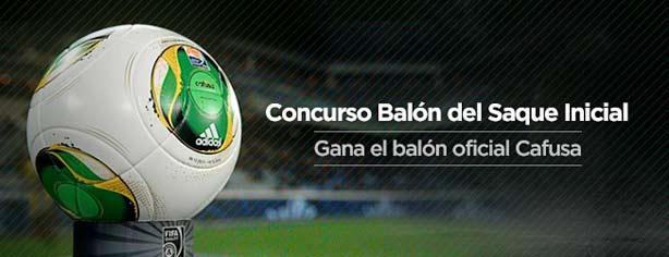 Concurso Copa Confederaciones 2013  gana el balón oficial de cada partido 86aab40a93e1d
