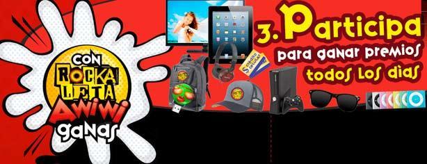 Promoción Rockaleta Awiwi: registra tu código y gana en www.rockaleta.com.mx/awiwi