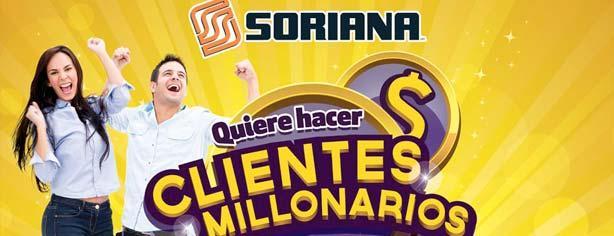 """Sorteo Millonario Soriana 2013 """"Clientes Millonarios"""", registra tus compras en tu tarjeta y gana"""