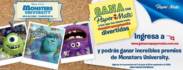 Promoción Paper Mate Monsters University: compra, registra y gana en ganaconpapermate.com.mx