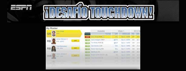 Desafío Touchdown 2013 ESPN Deportes y Sección Amarilla: gana pantallas LED de 60 pulgadas