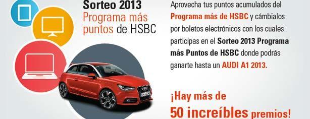 Sorteo Puntos HSBC 2013: gana Audi A1, pantallas, Macbook Air, tablets y más