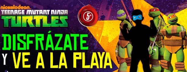 Concurso Tortugas Ninja de Televisa Niños: Disfrázate y gana un viaje a la playa