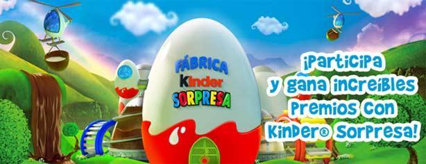 Promoción Fábrica Kinder Sorpresa: registra tu lote, elige tu sorpresa y gana