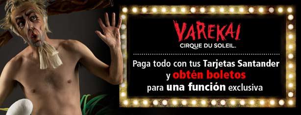 Promoción Santander regala boletos para el Cirque Du Soleil Varekai