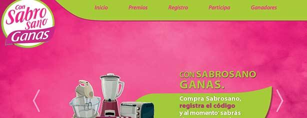 Promoción Con Sabrosano Gano: gana $350,000 para casa y electrodomésticos diarios