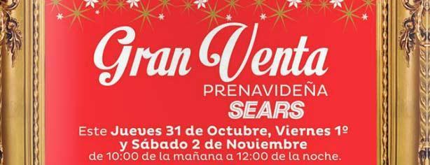 Gran Venta Pre Navideña Sears: 20% de descuento y 18 meses sin intereses