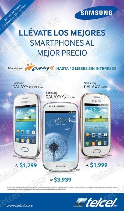 Promoción Telcel Amigo Kit Samsung Galaxy: precios especiales y meses