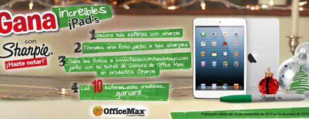 Concurso Sharpie y Office Max esferas navideñas, gana uno de los 10 iPads