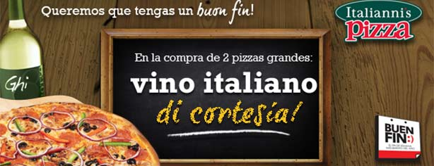 Italiannis Pizza – Ofertas y Promociones El Buen Fin 2013