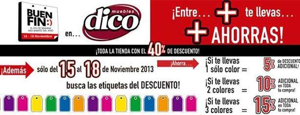 Muebles dico ofertas y promociones el buen fin 2013 for Comedores para el buen fin