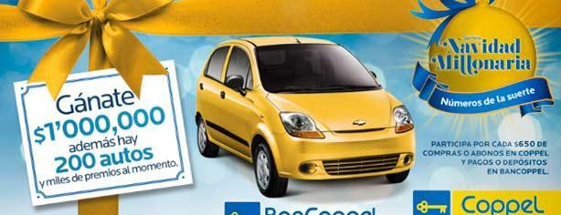 Navidad Millonaria Coppel: gana 1 millón de pesos o uno de los 200 autos Matiz